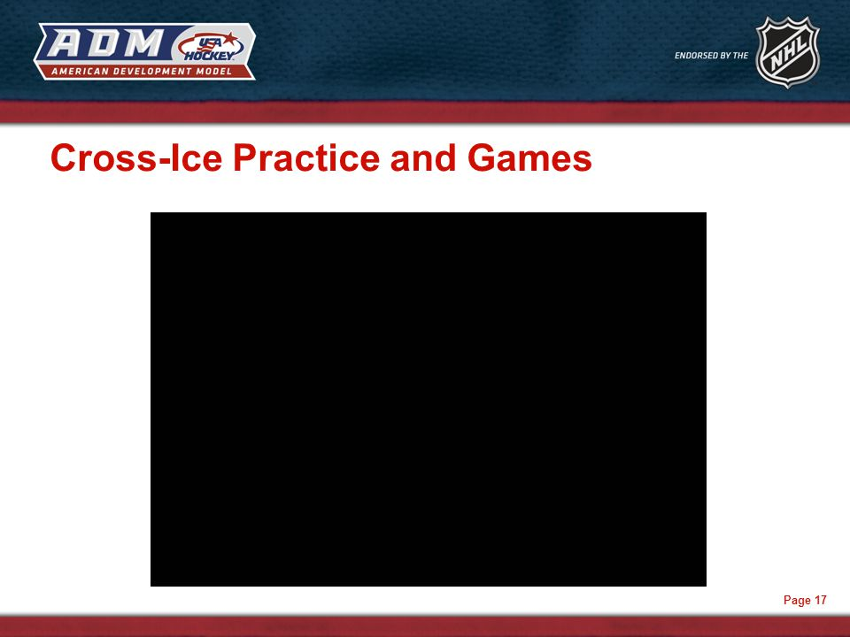 Page 17 Cross-Ice Practice and Games