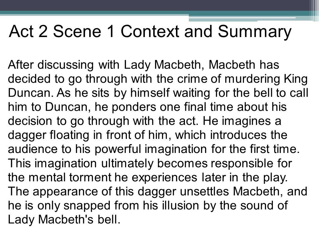 act 2 scene 1 macbeth analysis