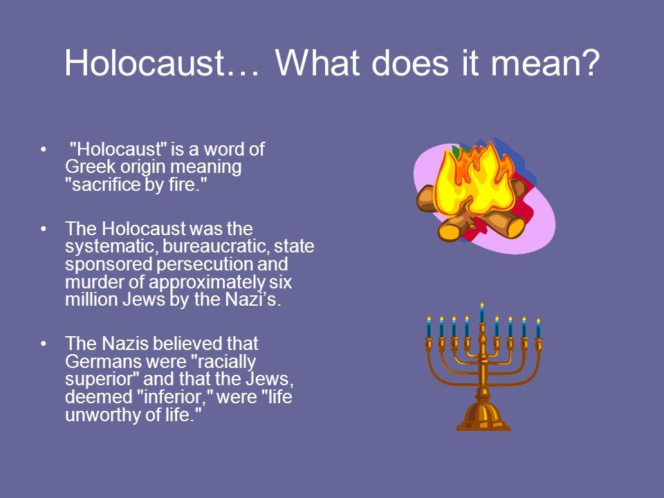 greek origin of holocaust
