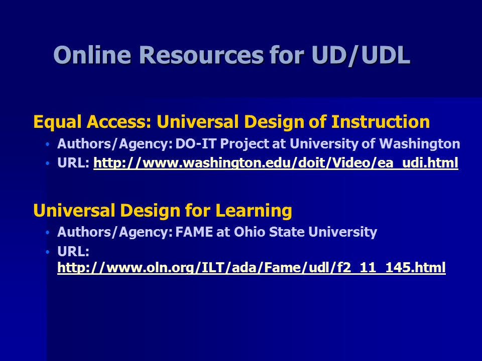 From Theory To Practice Faculty Implementation Of Universal Design Ahead Conference Charlotte Nc July 18 Ppt Download