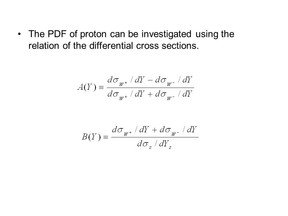 The PDF of proton can be investigated using the relation of the differential cross sections.
