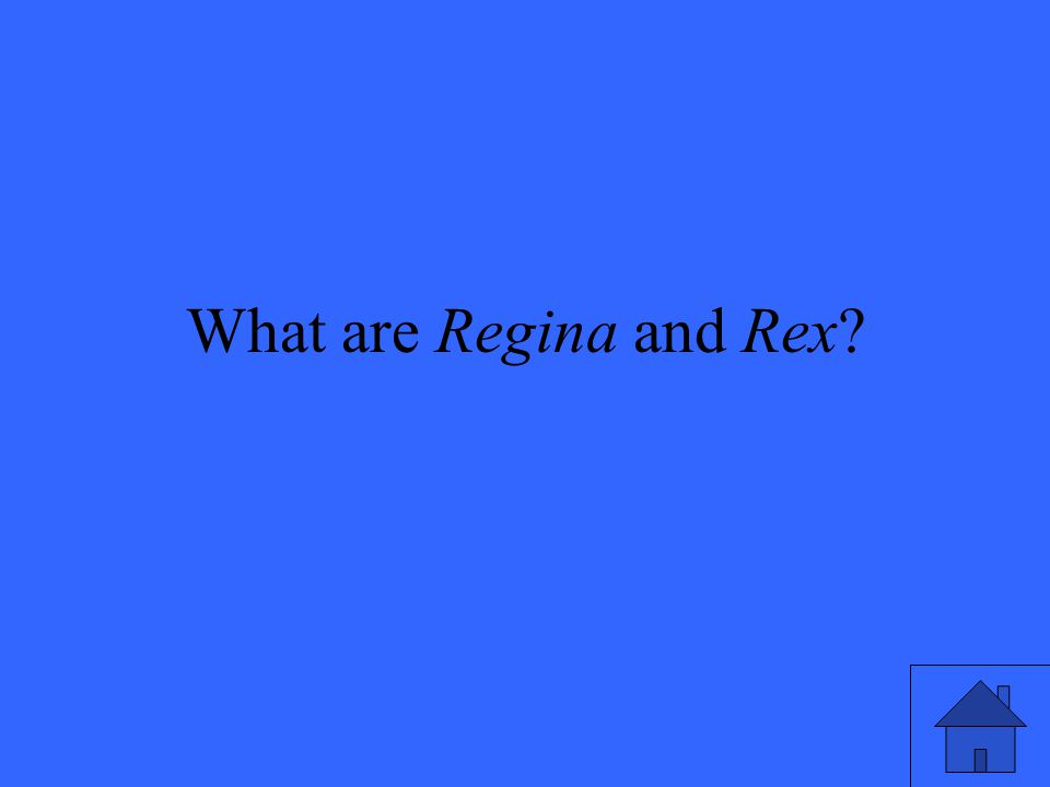 What are Regina and Rex