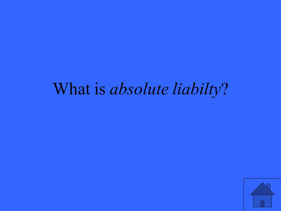 What is absolute liabilty