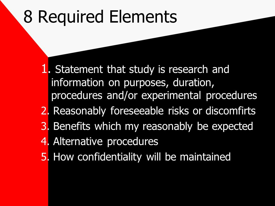 8RequiredElements 8 Required Elements 1.