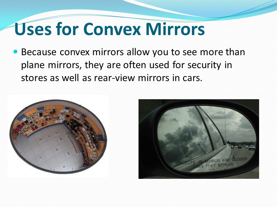 where are convex mirrors used