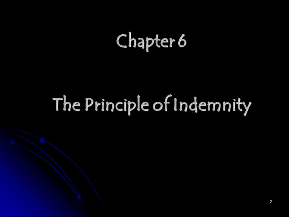 2 Chapter 6 The Principle of Indemnity