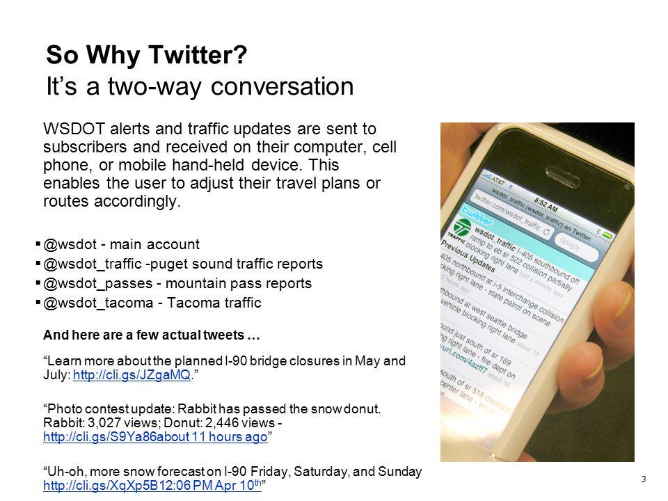 WSDOT Social Media Usage Using Twitter in an Emergency