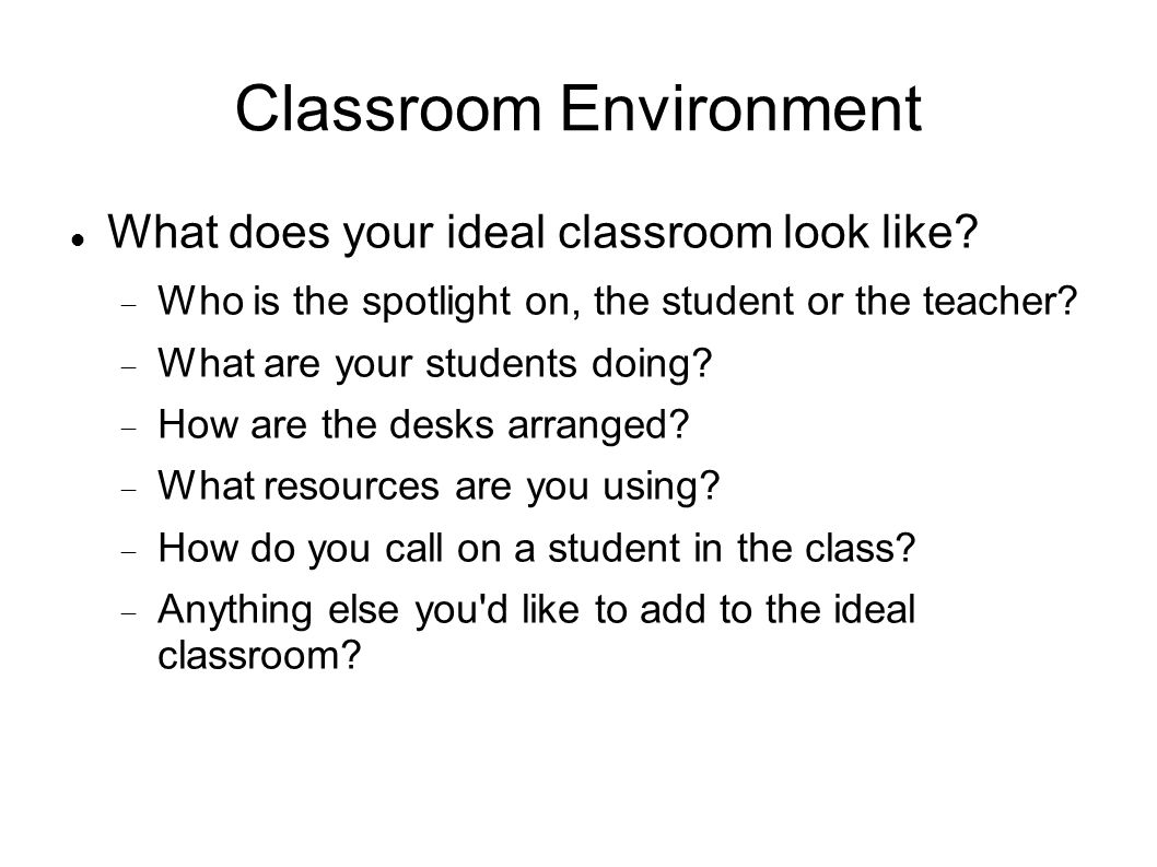Classroom Management Make name tags What is classroom