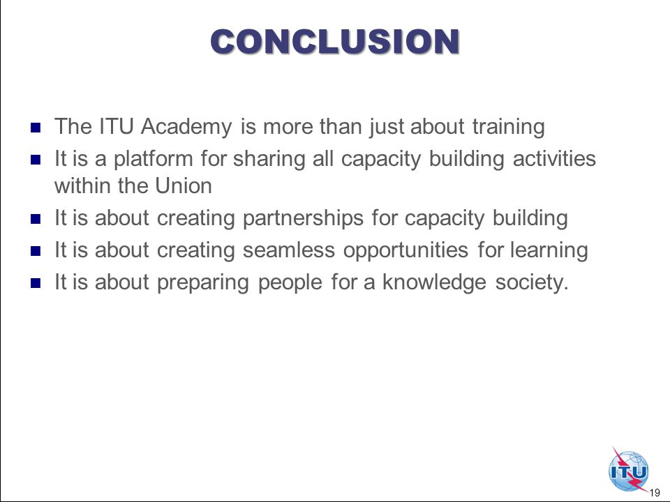 Introduction to the ITU Academy web portal , Prof.