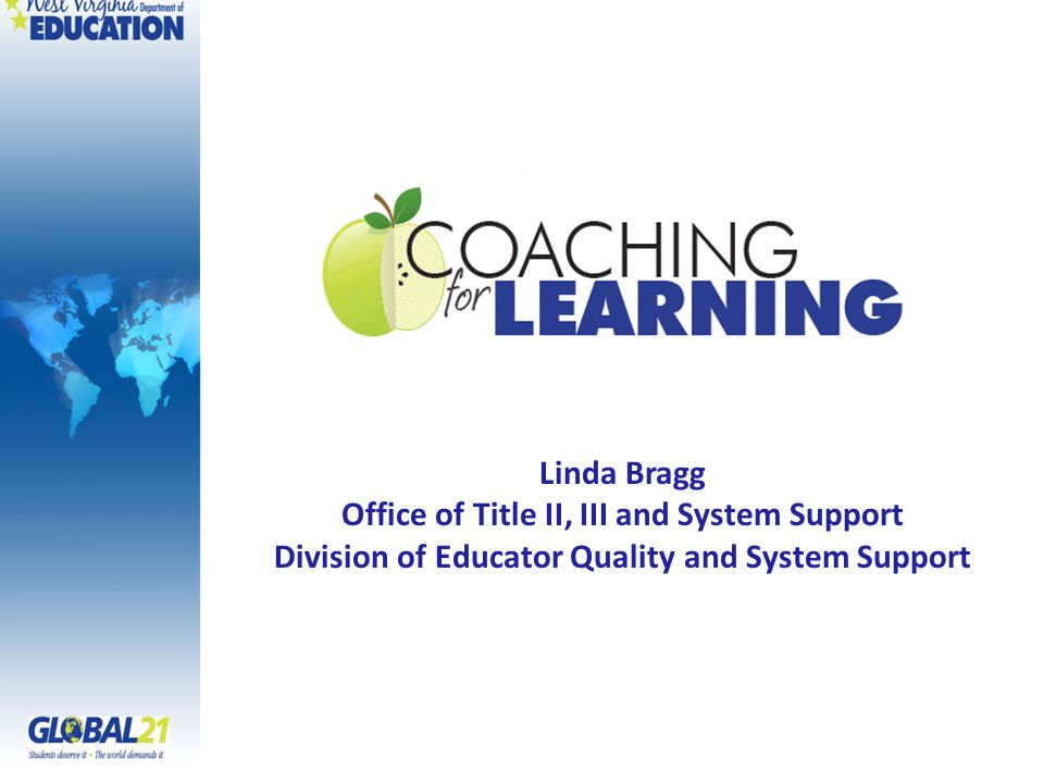 Linda Bragg Office of Title II, III and System Support Division of Educator Quality and System Support