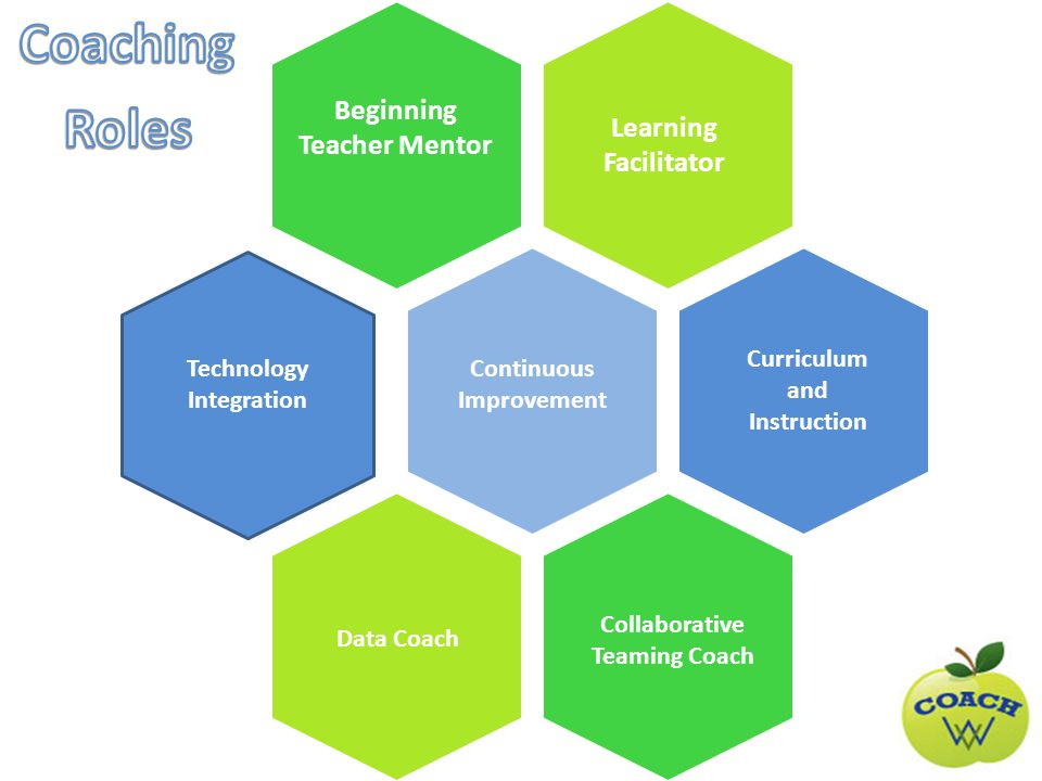 Beginning Teacher Mentor Learning Facilitator Continuous Improvement Curriculum and Instruction Data Coach Collaborative Teaming Coach Technology Integration
