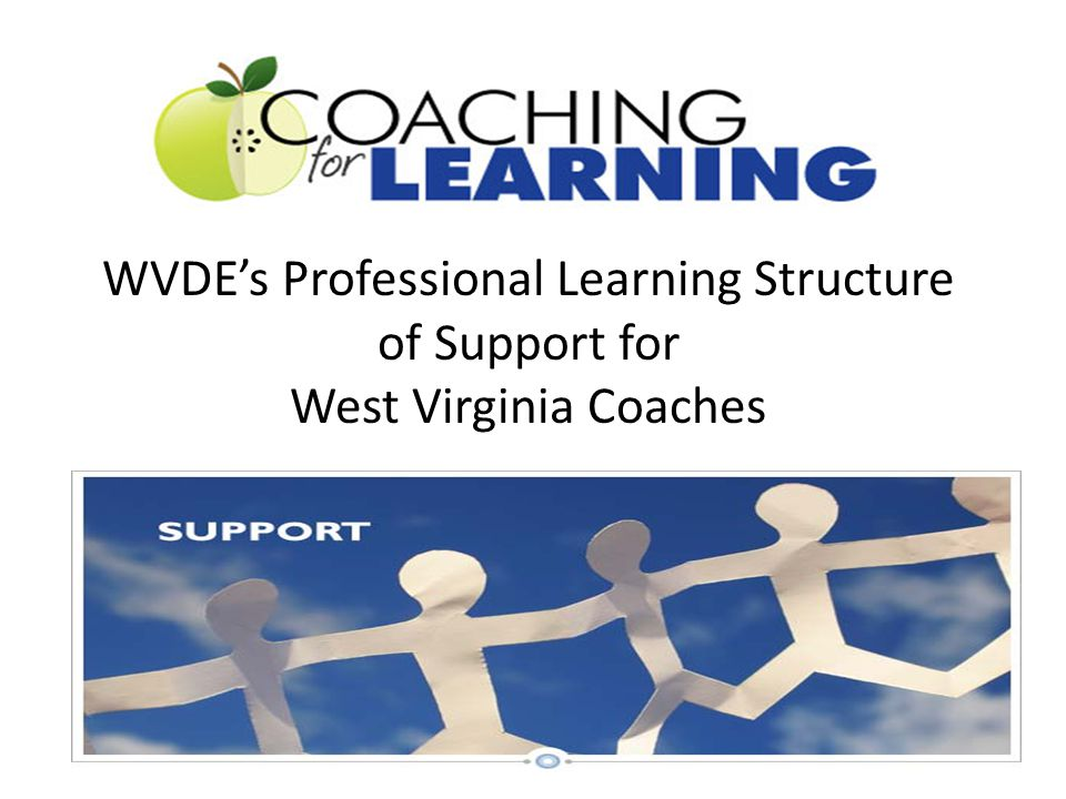 WVDE's Professional Learning Structure of Support for West Virginia Coaches