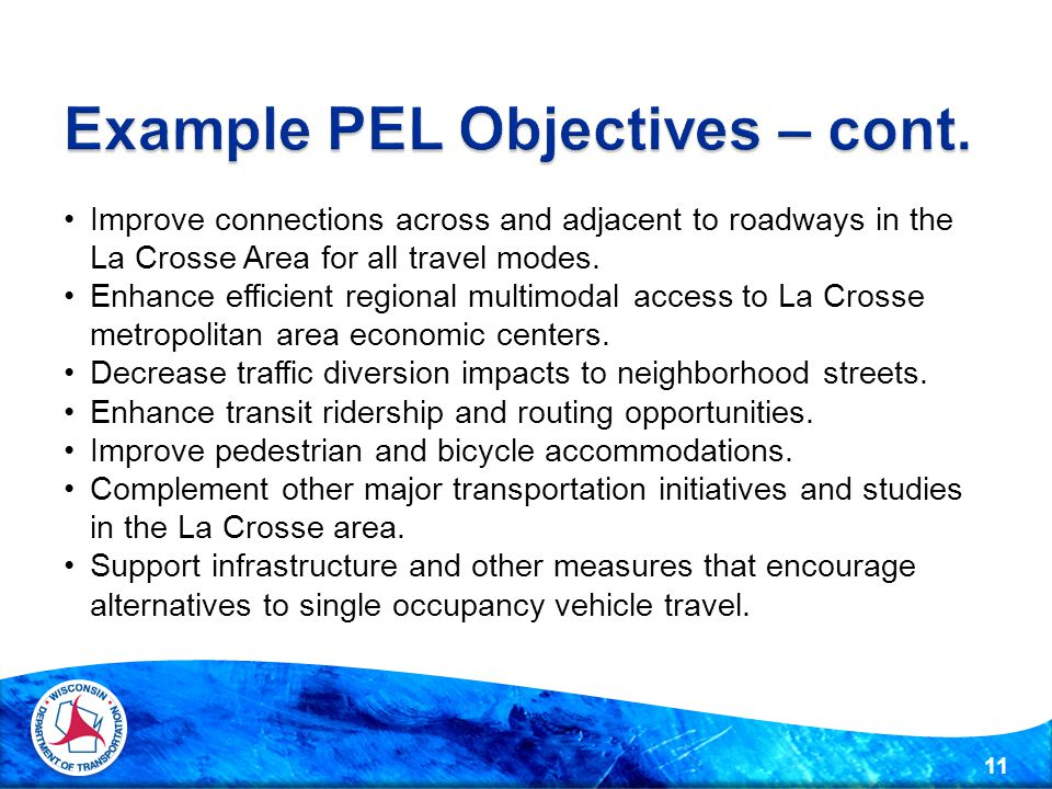 Improve connections across and adjacent to roadways in the La Crosse Area for all travel modes.