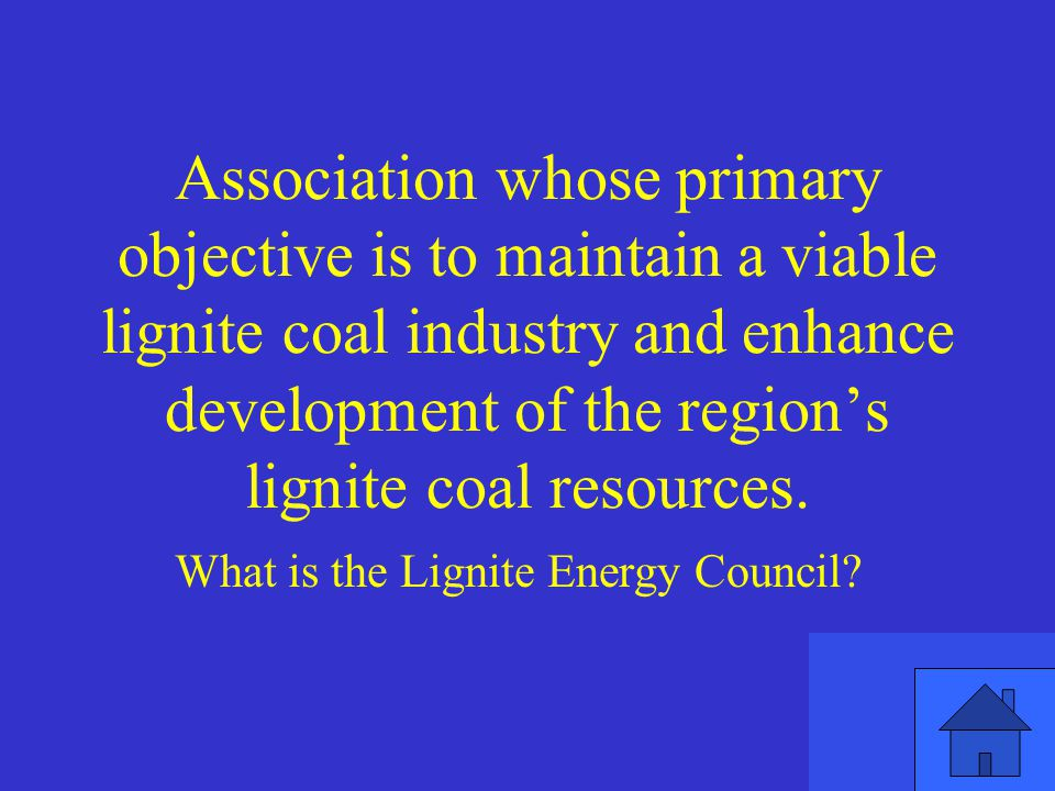 Association whose primary objective is to maintain a viable lignite coal industry and enhance development of the region's lignite coal resources.