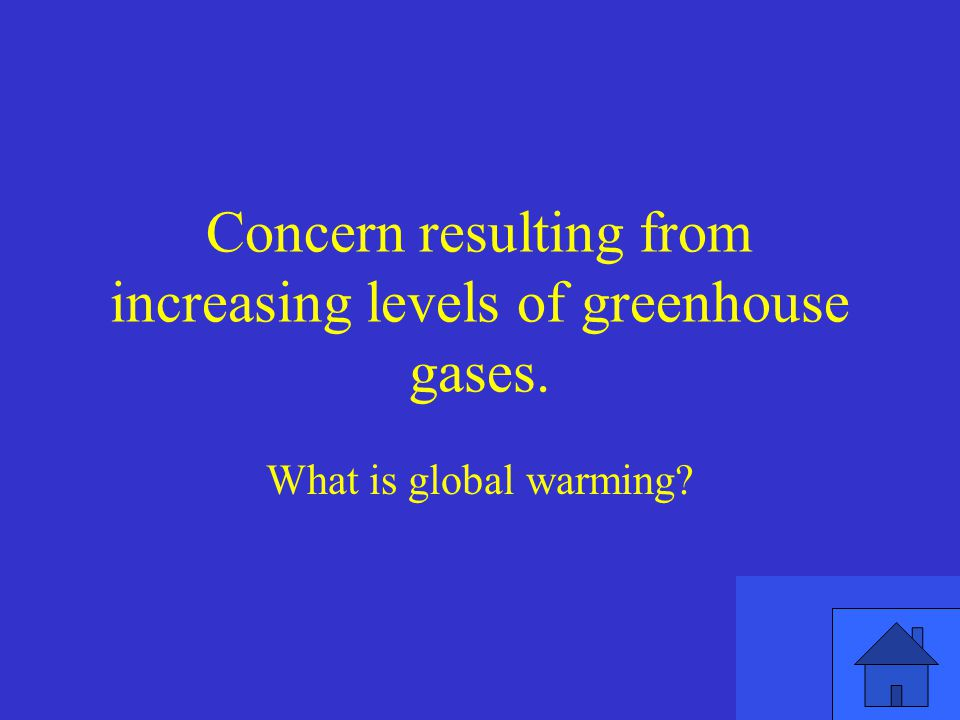 Concern resulting from increasing levels of greenhouse gases.