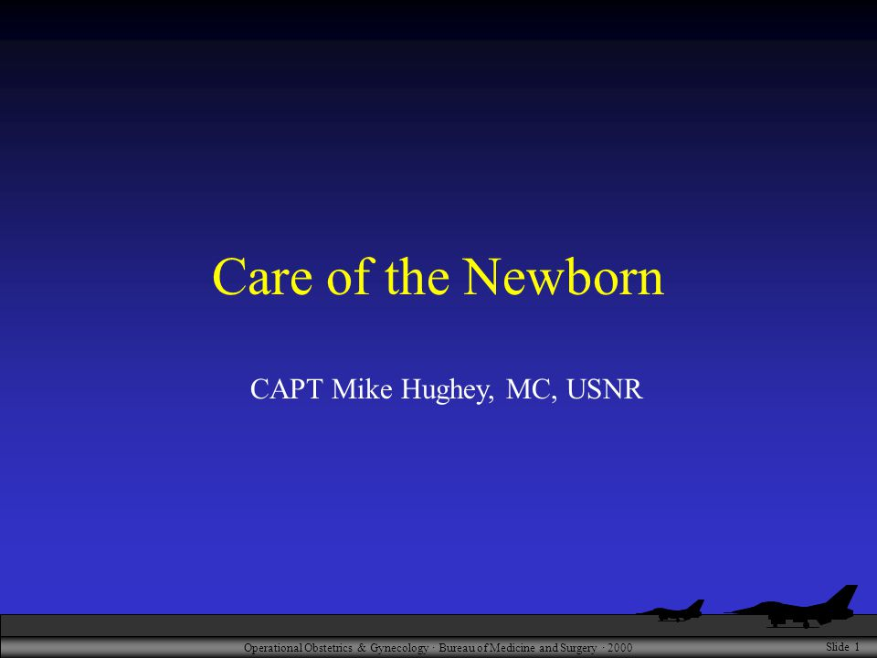 Operational Obstetrics & Gynecology · Bureau of Medicine and Surgery · 2000 Slide 1 Care of the Newborn CAPT Mike Hughey, MC, USNR