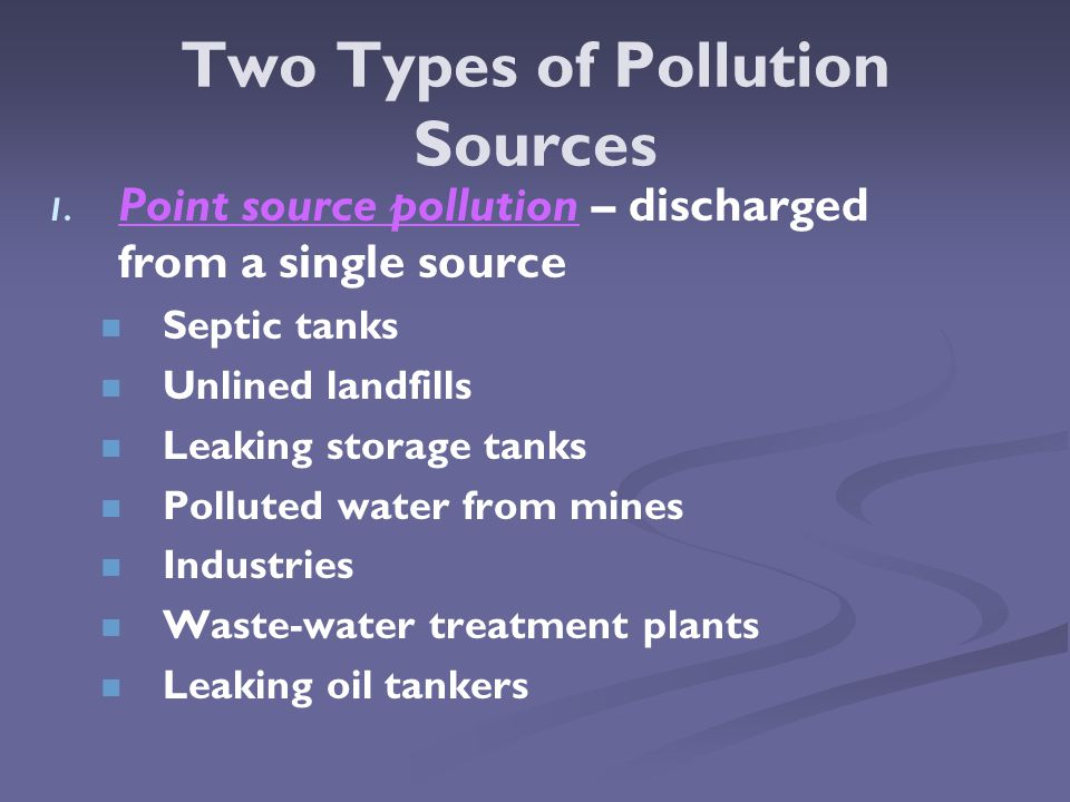 Two Types of Pollution Sources