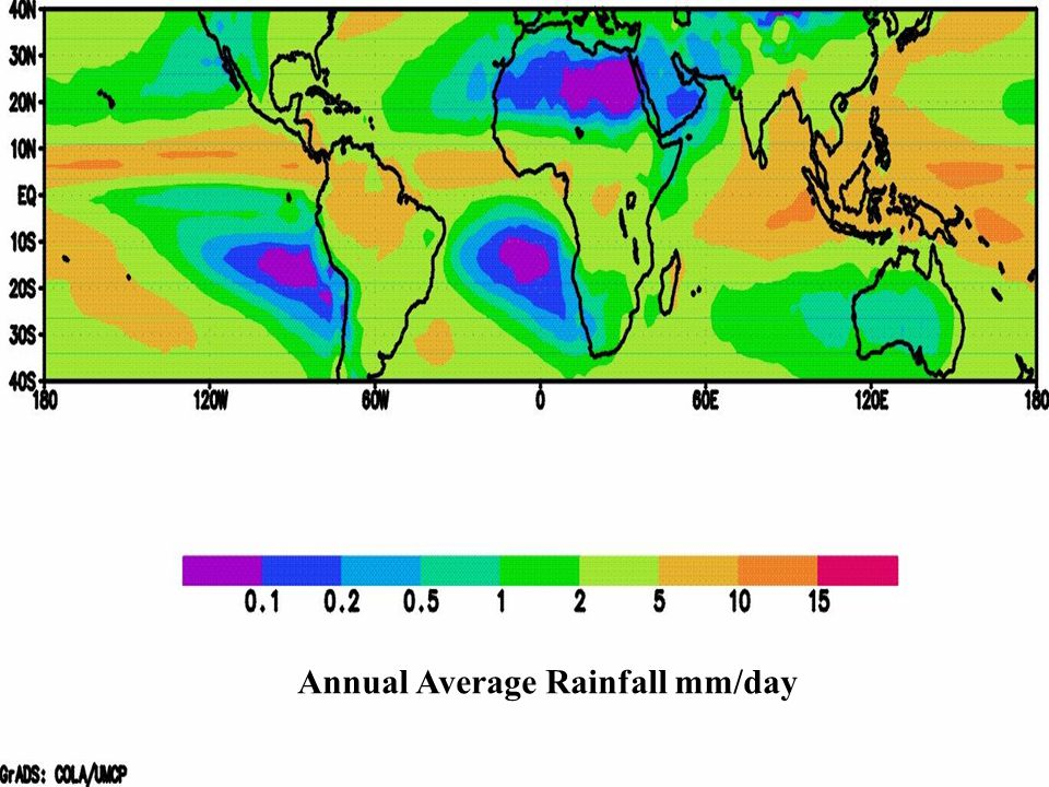 Annual Average Rainfall mm/day