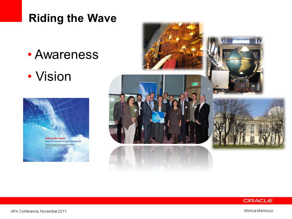 Monica Marinucci Riding the Wave APA Conference, November 2011 Awareness Vision