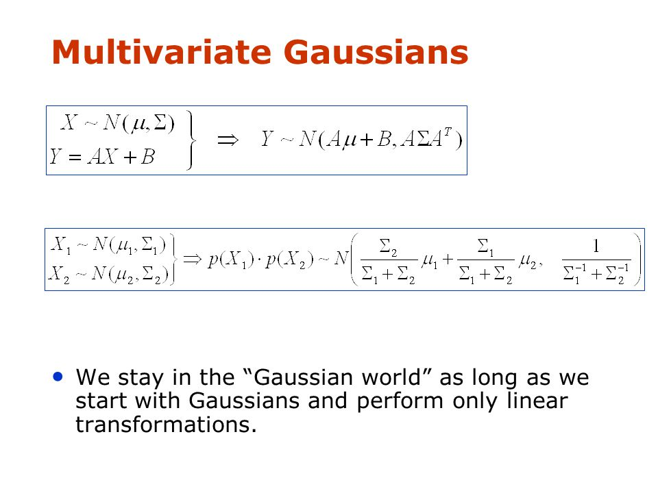 Linear transform of Gaussians --   Univariate Gaussians
