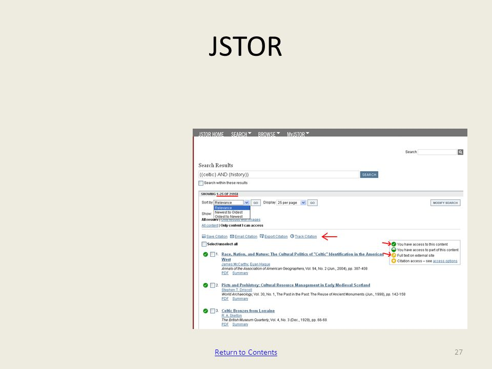 JSTOR Return to Contents27