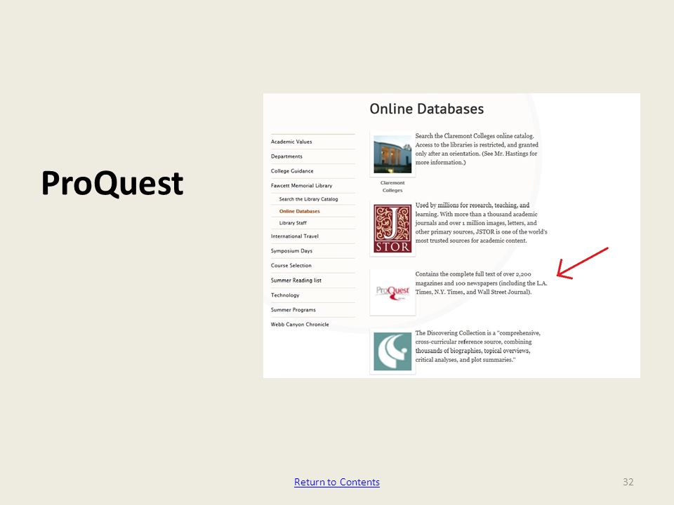 ProQuest 32Return to Contents
