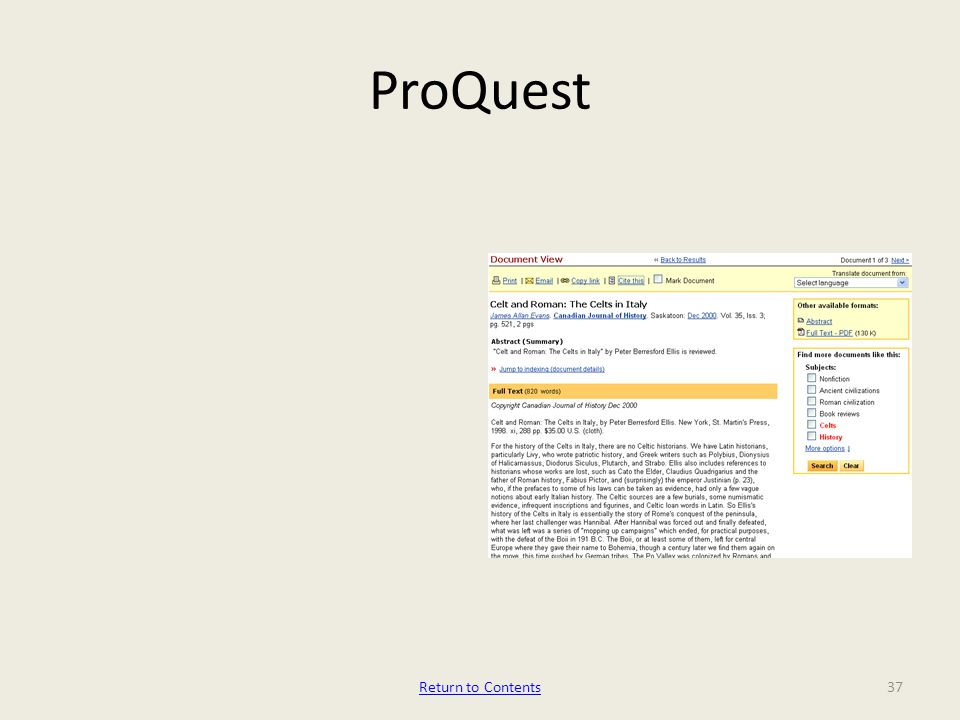 ProQuest 37Return to Contents