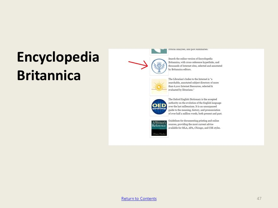 Encyclopedia Britannica 47Return to Contents