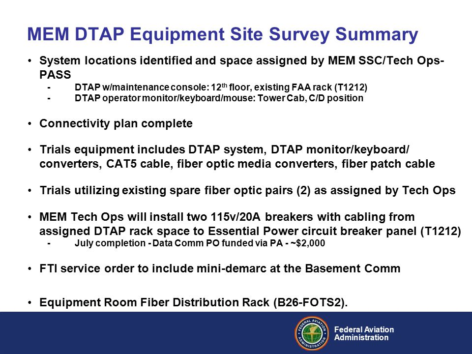 Federal Aviation Administration Data Communications Program