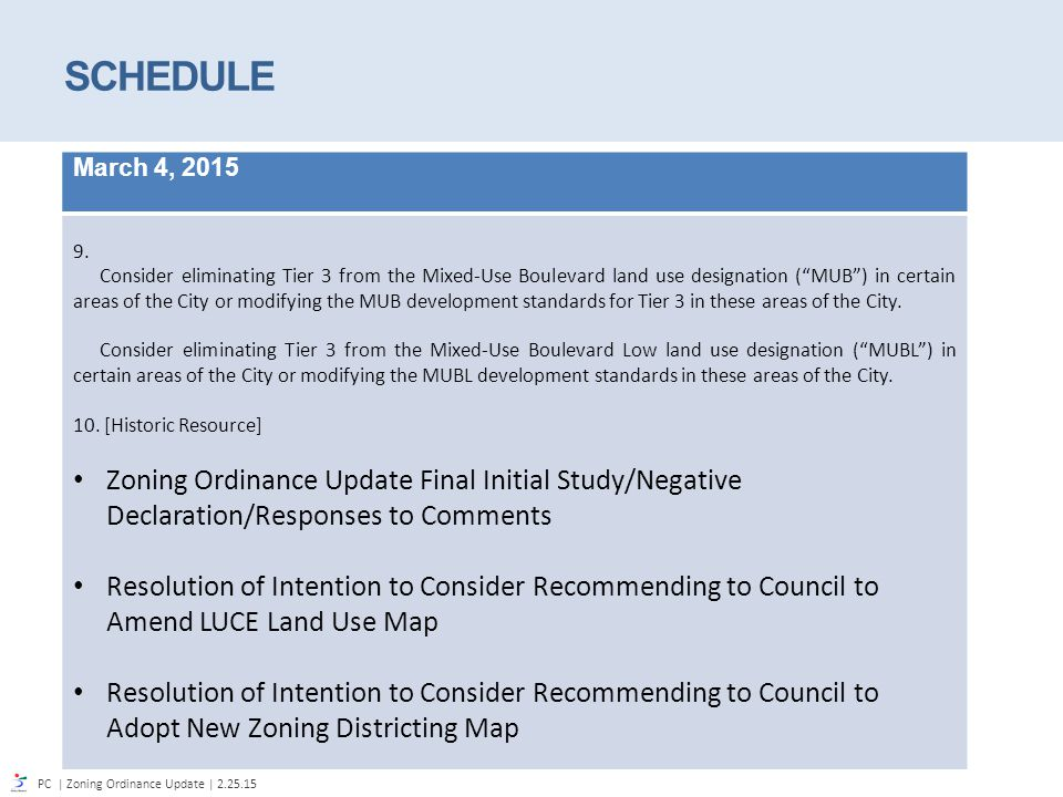 Zoning Ordinance Update Planning Commission February 25, ppt