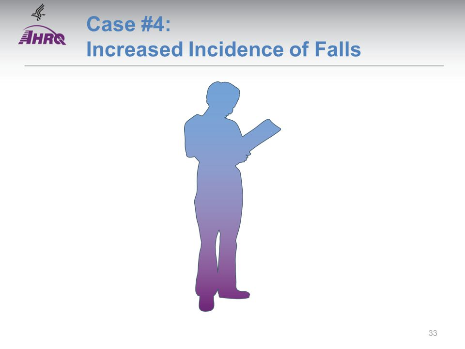 Case #4: Increased Incidence of Falls 33