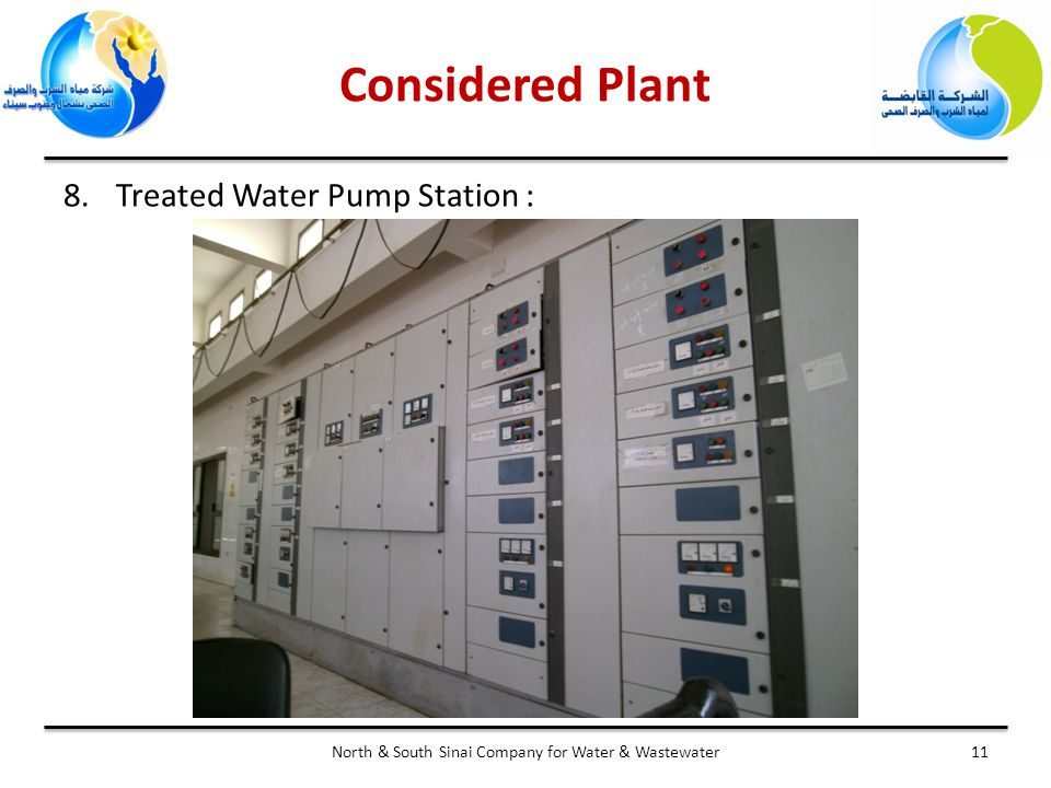 11North & South Sinai Company for Water & Wastewater 8.Treated Water Pump Station : Considered Plant