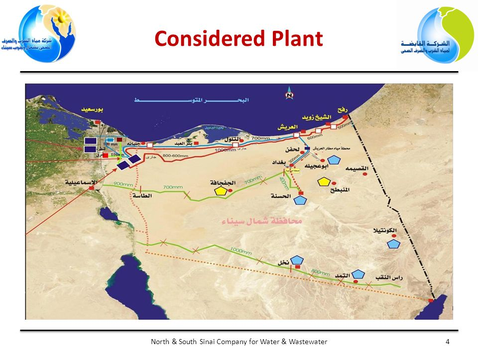 Considered Plant 4North & South Sinai Company for Water & Wastewater