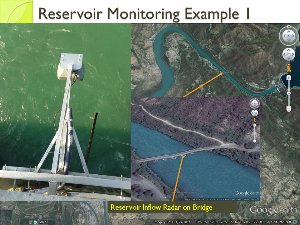 Reservoir Inflow Radar on Bridge Reservoir Monitoring Example 1