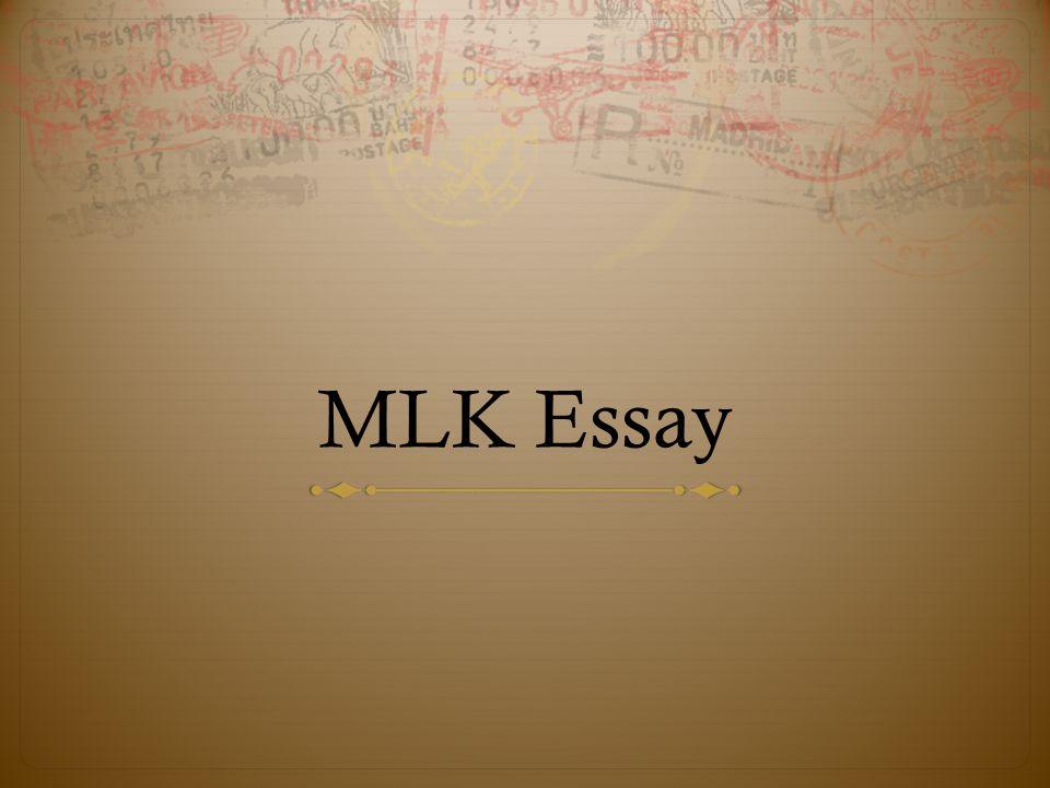 mlk essays