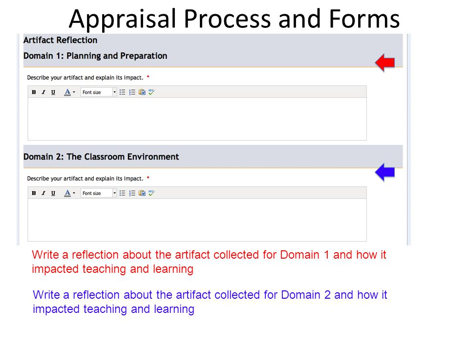 Appraisal Process And Forms Probationary First 3 Years Of