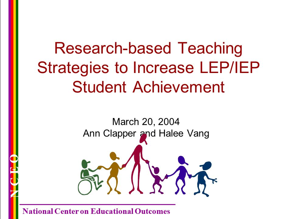National Center On Educational Outcomes N C E O Research Based
