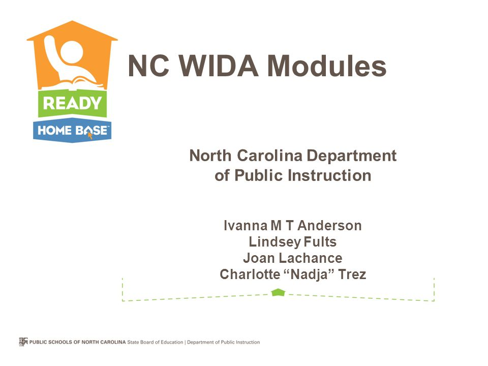 North Carolina Department Of Public Instruction Ivanna M T Anderson