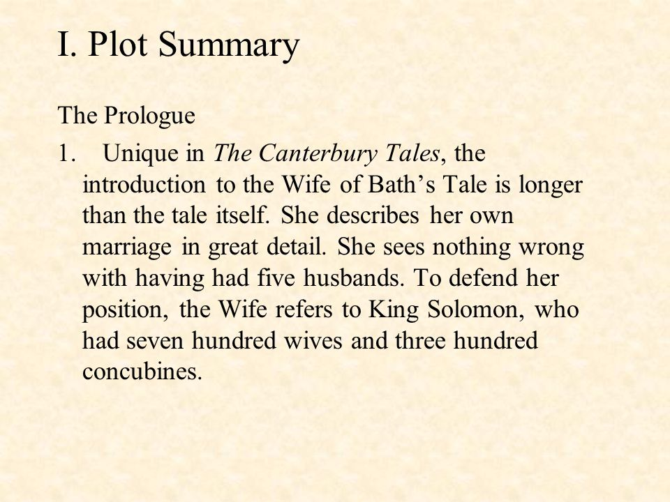 the wife of baths prologue analysis essay An analysis of chaucer's the wife of bath's tale in reading geoffrey chaucer's canterbury tales, i found that of the wife of bath, including her prologue, to be the most.