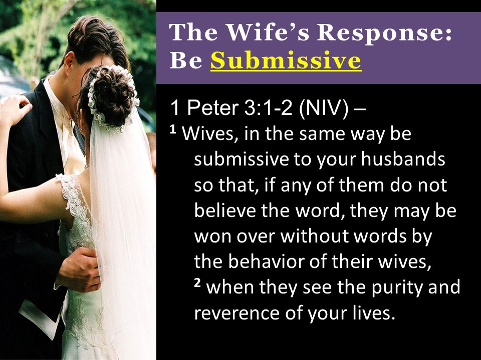 How to be submissive to your husband