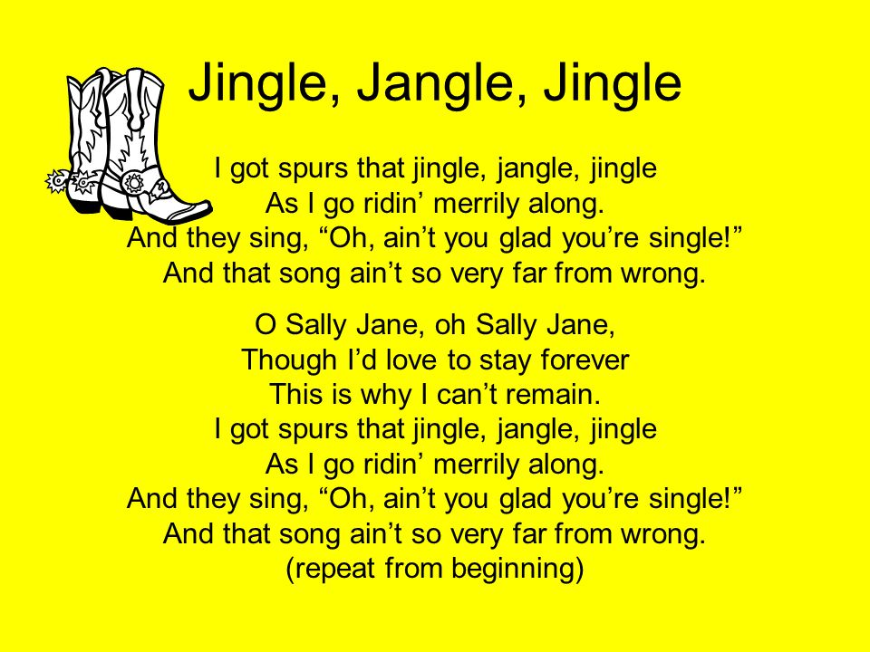 Lyric jingle jangle jingle lyrics : Rodeo Day Sing-a-long 2 nd -5 th Grade Created By Kaylyn Sharp ...