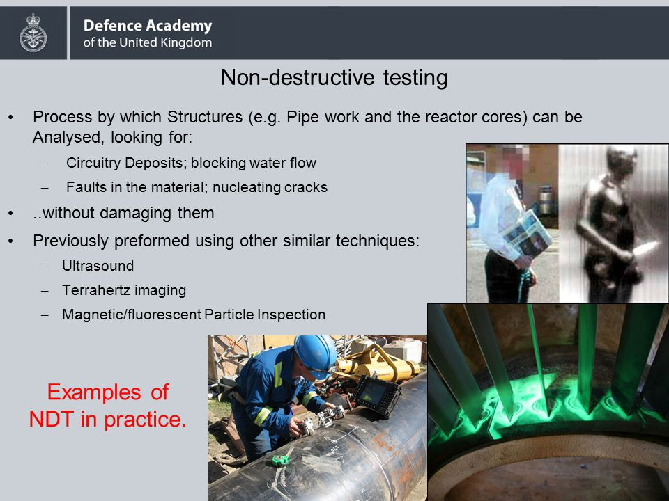 Simulation and Modelling of Non- Destructive Testing Methods