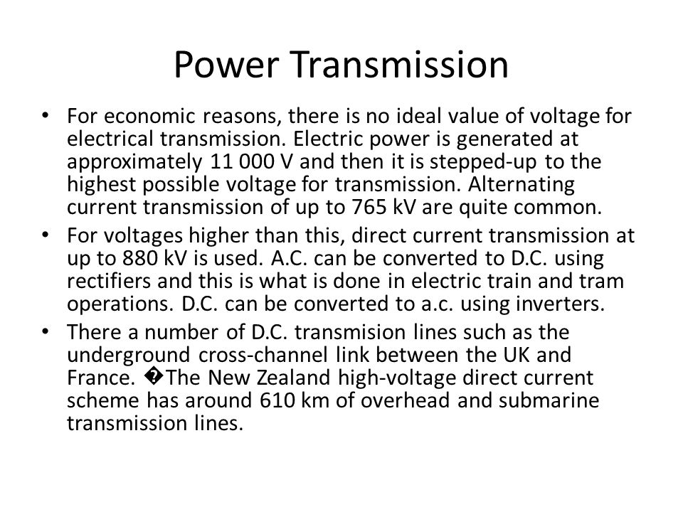 Topic 12.3 Transmission of Electrical Power 1 hour. - ppt download