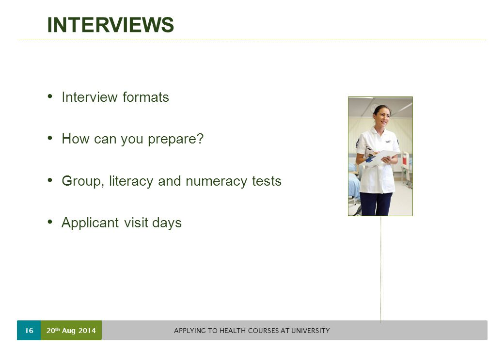 INTERVIEWS Interview formats How can you prepare.