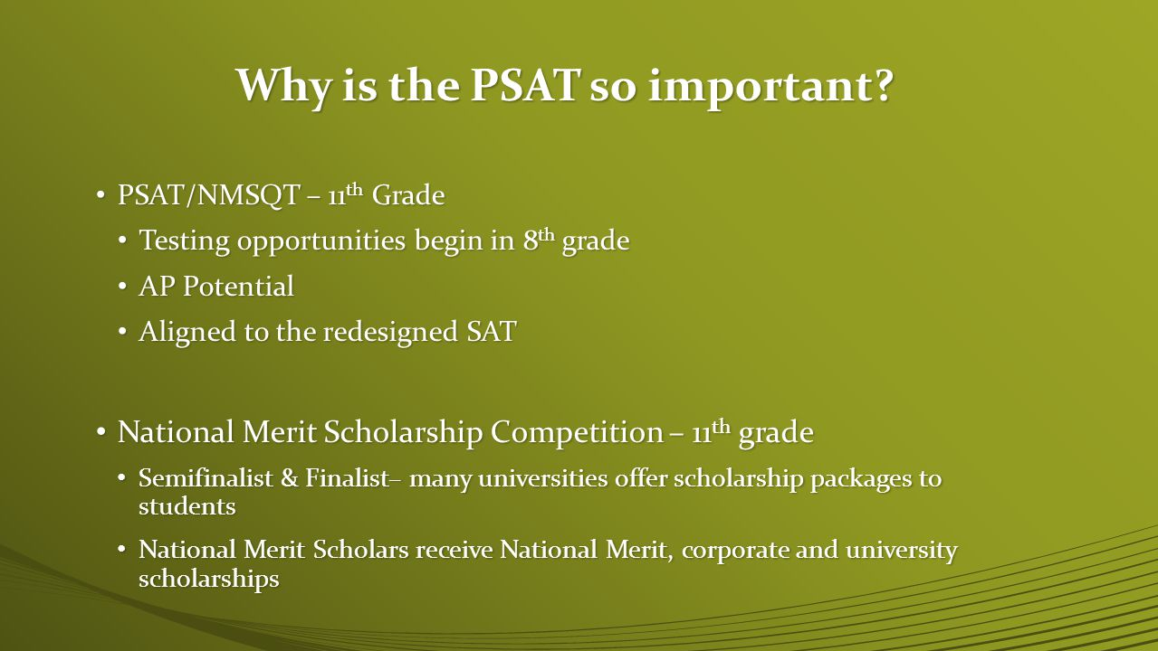 Why is the PSAT so important.