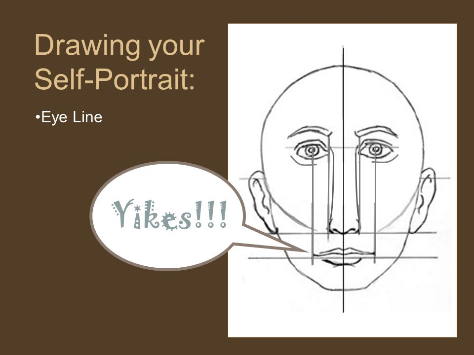 Eye Line Drawing your Self-Portrait: Yikes!!!