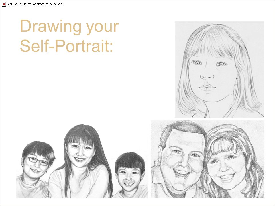 The Bridge of your Nose Drawing your Self-Portrait: Some artists choose not to draw lines for the bridge.