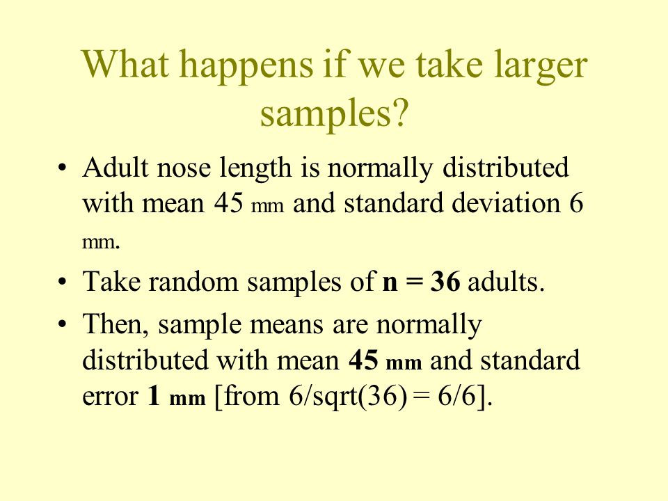 What happens if we take larger samples.