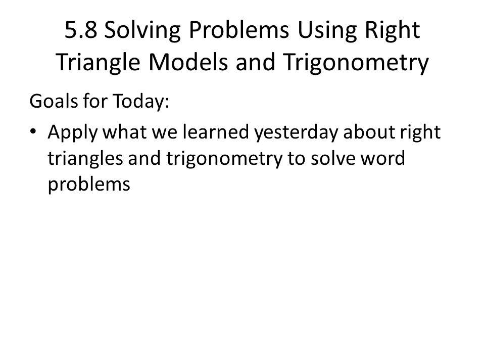 trigonometry solved problems