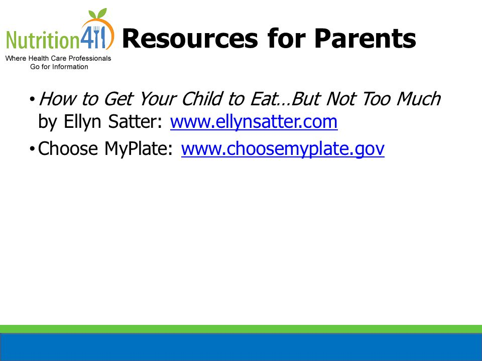 Provided Courtesy Of Nutrition411 Feeding A Fussy Toddler